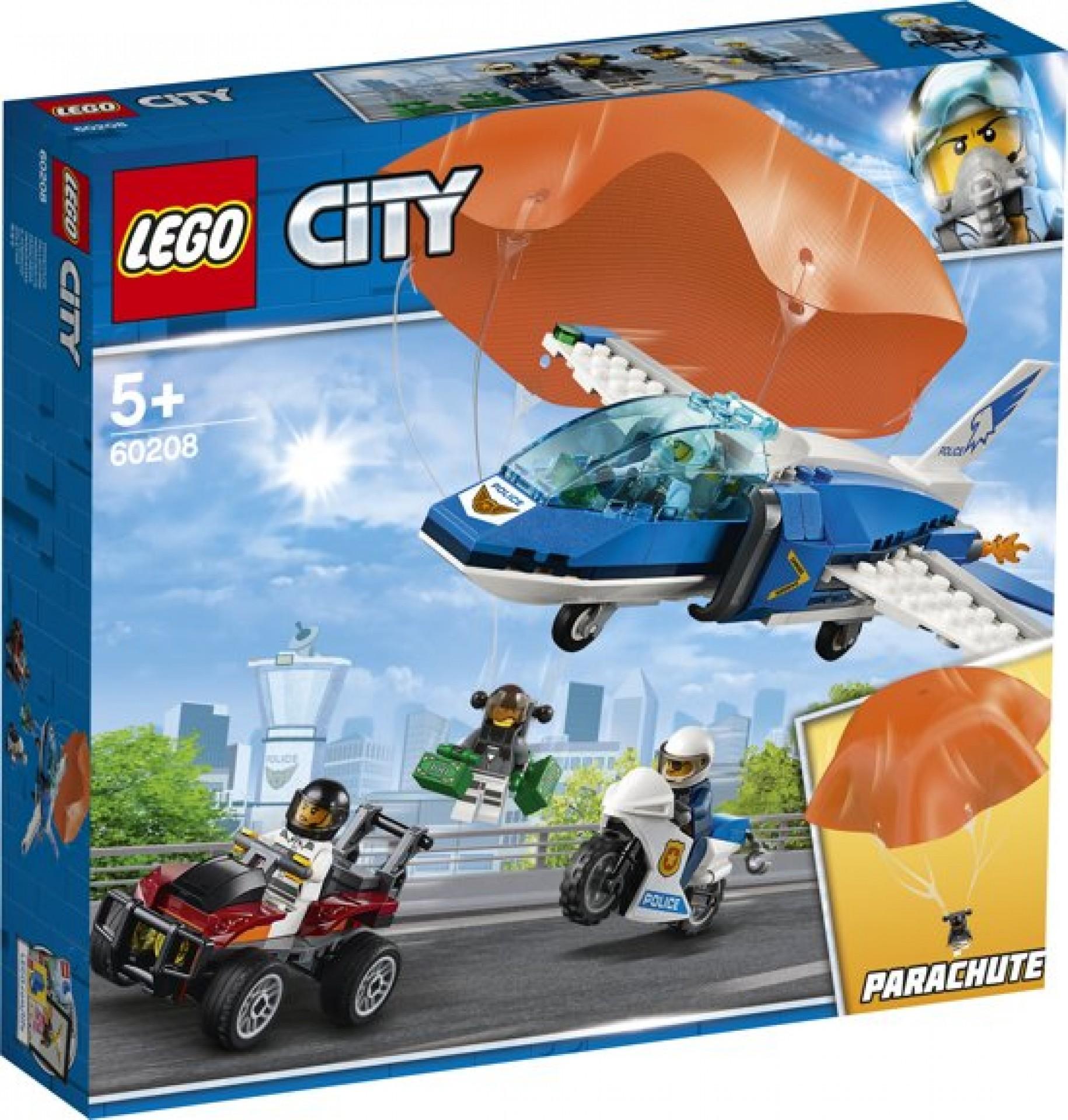 Lego city police 60208 luchtpolitie parachut