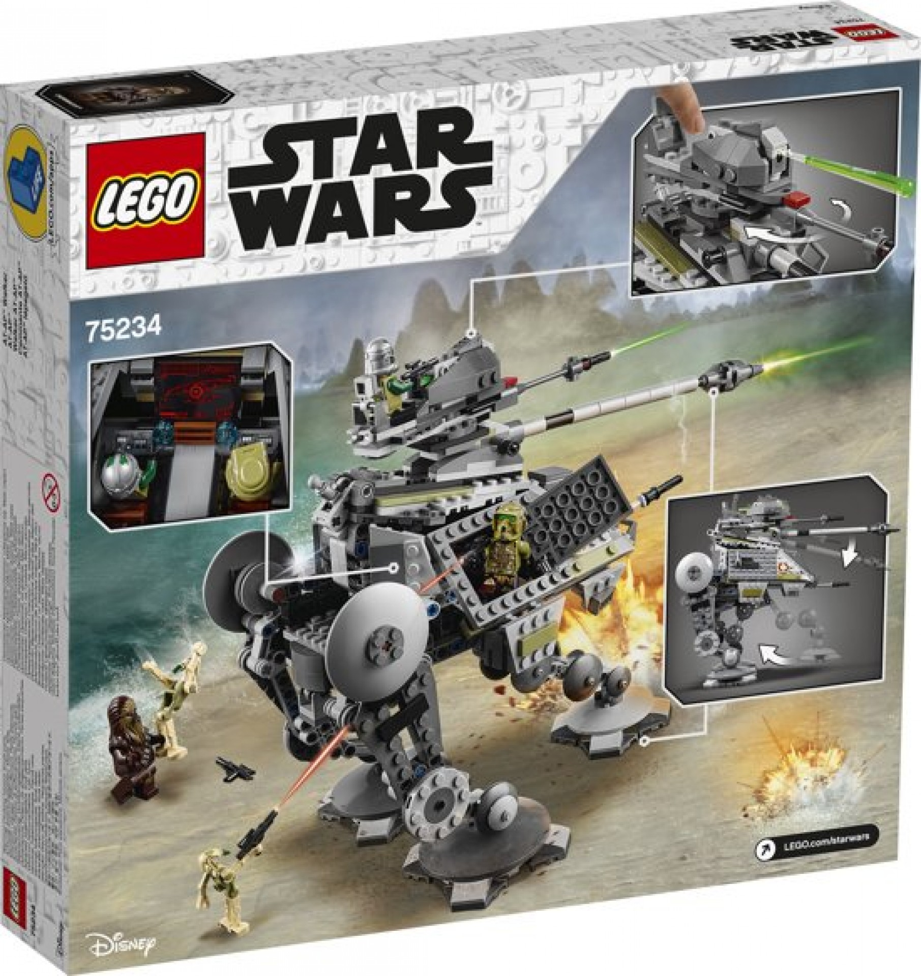LEGO 75234 Star Wars AT-AP Walker Includes Chewbacca, Commander Gree and a Kashyyyk Clone Trooper Minifigures Gift Building Toy Set 689 Pieces